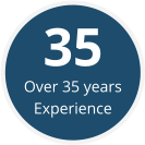 Over 35 years Experience 35